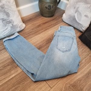Lauren Conrad distressed cuffed skinny ankle jeans